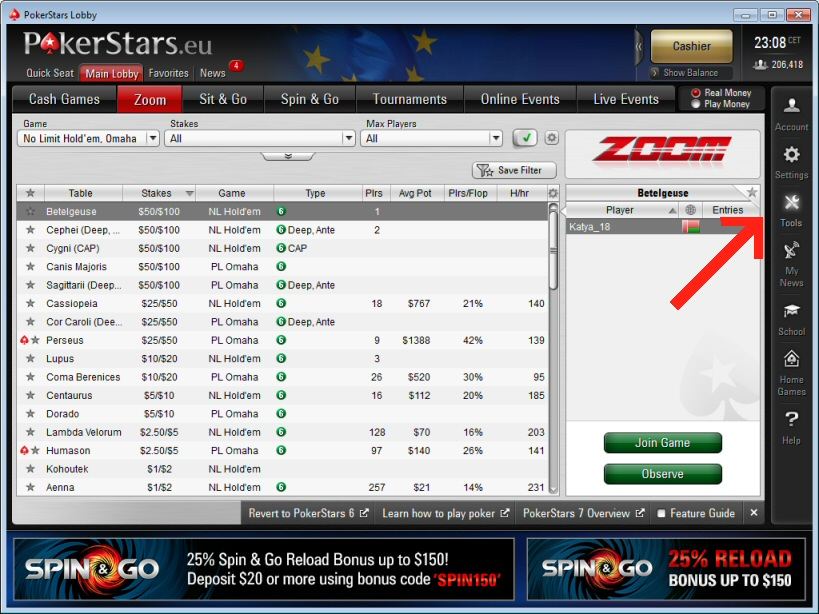 Select 'Trade Tournament money' in pokerstars, then go to 'Sell Tournament Money'